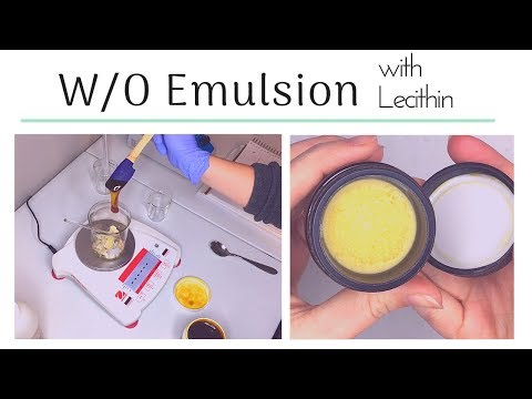 Making A Water In Oil Emulsion With Lecithin