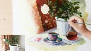 Repeat youtube video КАК научиться РИСОВАТЬ  СТЕКЛО и МЕТАЛЛ в натюрморте