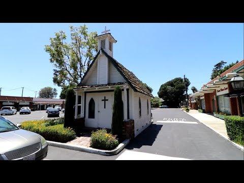 #650 The Miniature Church in a Parking Lot : LITTLE TREE CHURCH   JAMESTOWN VILLAGE (5/18/2018)