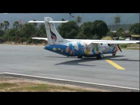 Take off from Koh Samui, Bangkok Airways, ATR 72, Thailand