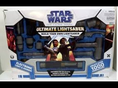 star wars the clone wars ultimate lightsabre build your own light