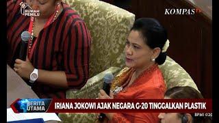 Gambar cover Iriana Jokowi Ajak Negara G20 Tinggalkan Plastik