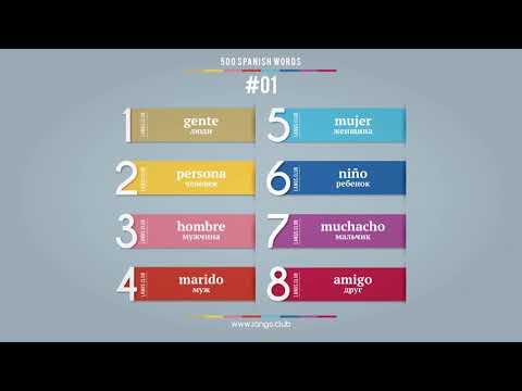 #01 - Испанский язык - 400 слов. Изучаем испанский язык самостоятельно.