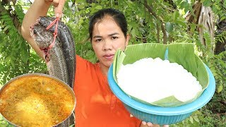 Awesome Cooking Curry Fish With Khmer Noodle Recipe -  Eating Curry Fish Delicious  -  Cooking Skill