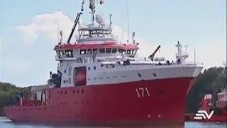 Arribó a Guayaquil de Buque Oceanografico BOP BAP CARRASCO   Marina de Guerra del Perú