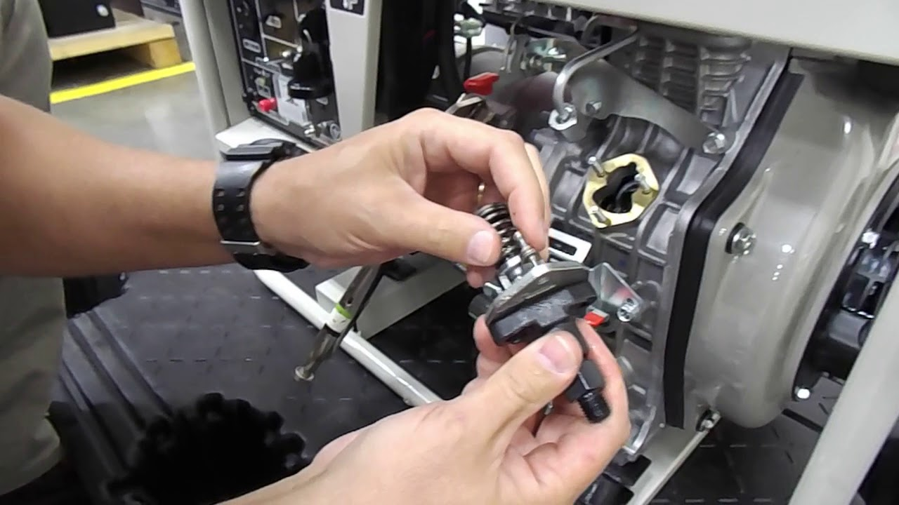 yanmar ydg3700 portable diesel generator fuel pump repair instructional video [ 1280 x 720 Pixel ]
