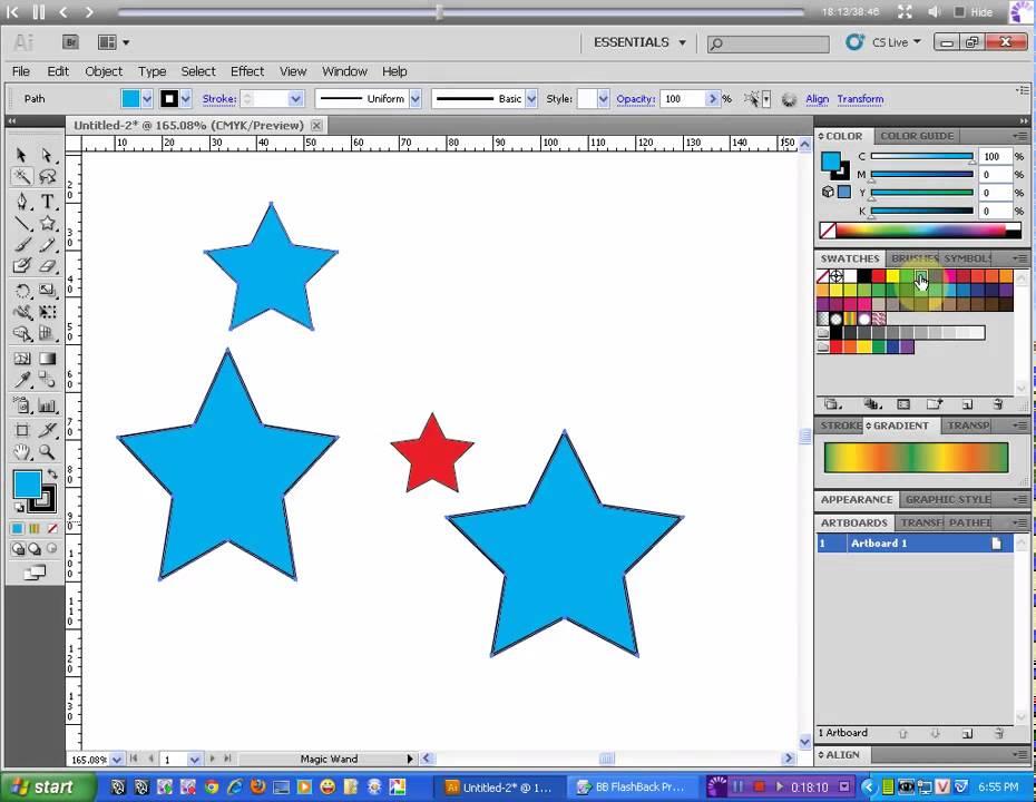 Bài 6  Sắp xếp các đối tượng, Group, Ungroup trong Adobe Illustrator CS5