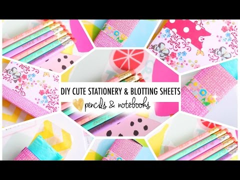 DIY Cute Stationery & Blotting Sheets | #B2SwithRoxy
