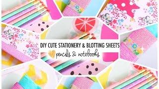 DIY Cute Stationery & Blotting Sheets | #B2SwithRoxy