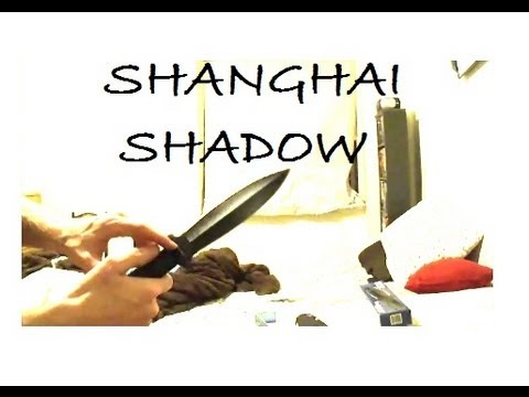 COLD STEEL SHANGHAI SHADOW THROWING KNIFE - Unboxing + First Test