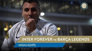 INTER FOREVER vs BARÇA LEGENDS | HIGHLIGHTS | Bobo Vieri scores twice!