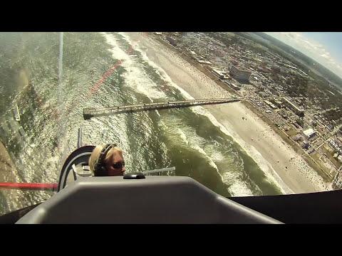 Patty Wagstaff In Cockpit CLIP - Jacksonville Beach 2015