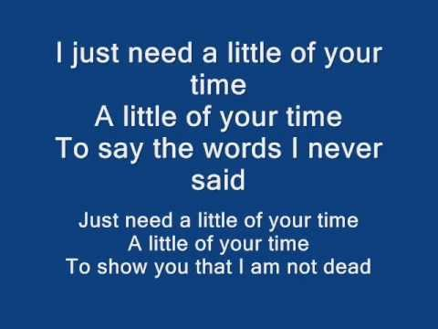 Maroon 5 little of your time w/lyrics