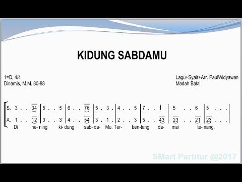 Kidung Sabda-Mu  | SATB – Teks Kor Lagu Rohani Not Angka