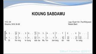 Kidung Sabda-Mu    SATB – Teks Kor Lagu Rohani Not Angka