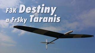 F3K Destiny a FrSky Taranis