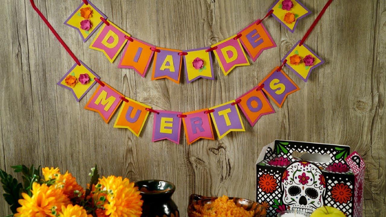 Guirnalda Para Día De Muertos Decoración Para Fiesta De La Película Coco