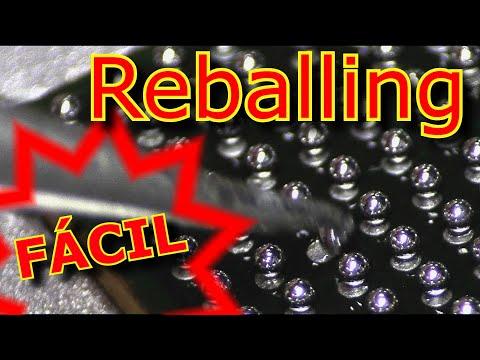 Reballing, rework, procedimiento paso a paso, soldadura y microsoldadura con infrarrojos.