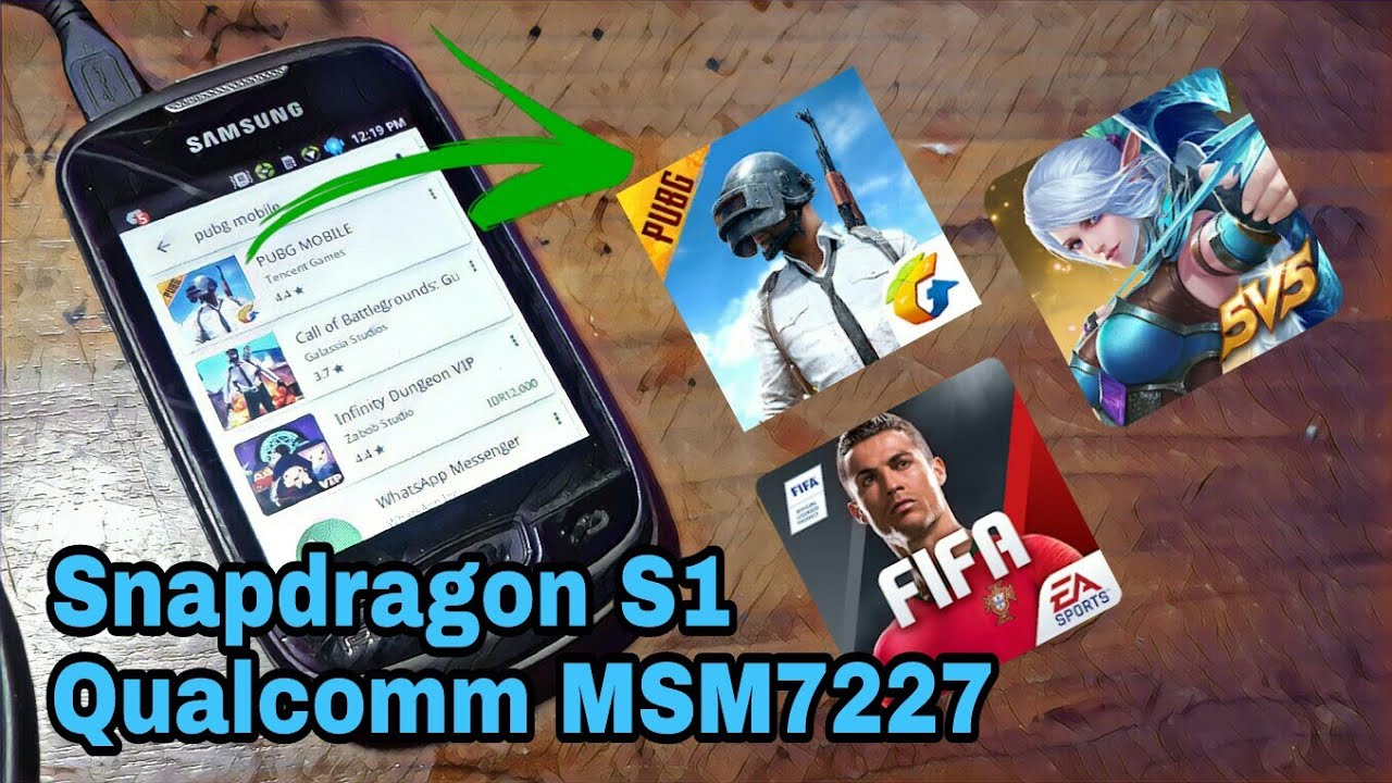 Can Old Qualcomm Snapdragon Chipset Run PUBG Mobile & Newest Games ? (Samsung Galaxy Mini S5570)