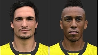 PES 2014 • Borussia Dortmun Facepack vol1 | Download • HD Thumbnail