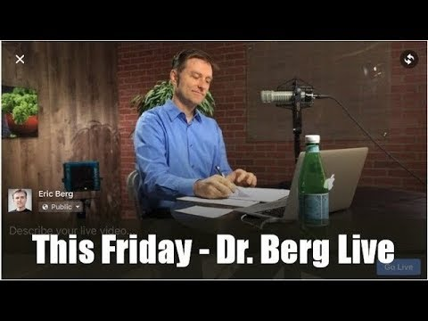 Dr. Berg Live Q&A, Friday (March 15) on the Ketogenic Diet and Intermittent Fasting