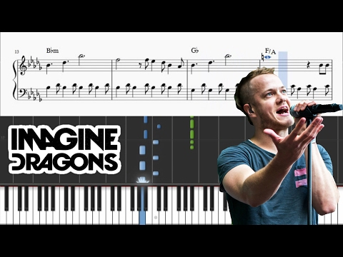 Imagine Dragons - Believer - Piano Tutorial + SHEETS