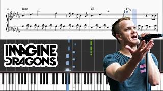 Imagine Dragons - Believer - Piano Tutorial + SHEETS