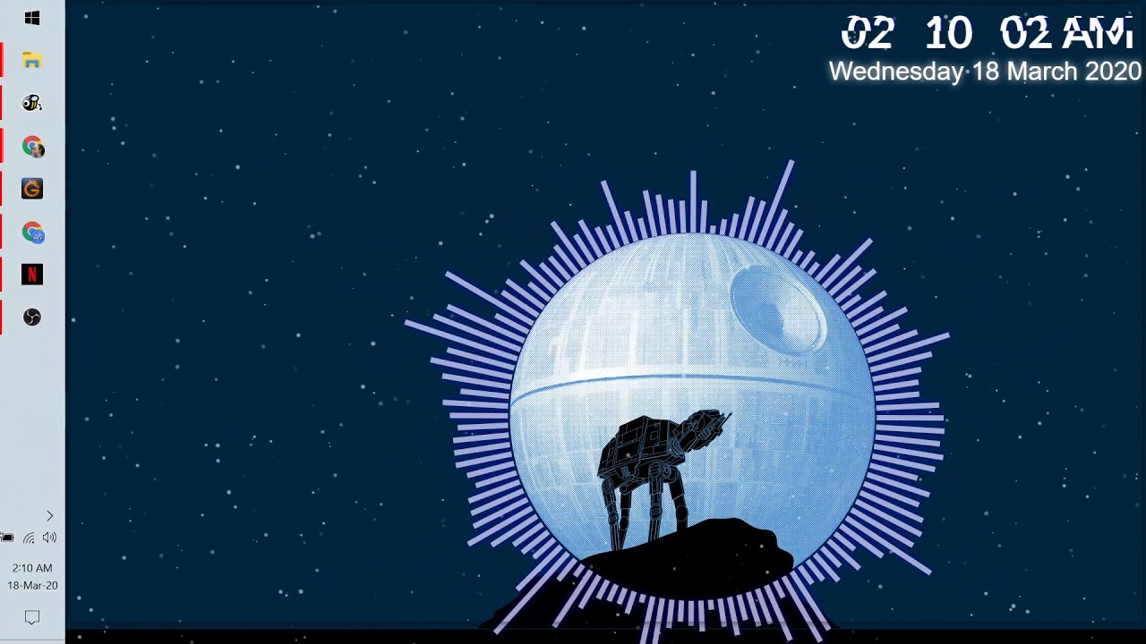Star Wars At At Death Star Wallpaper Audio Responsive Youtube