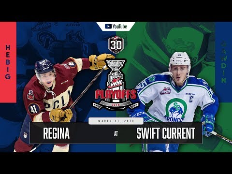 WHL IN 30 || Regina Pats vs Swift Current Broncos – March 30, 2018