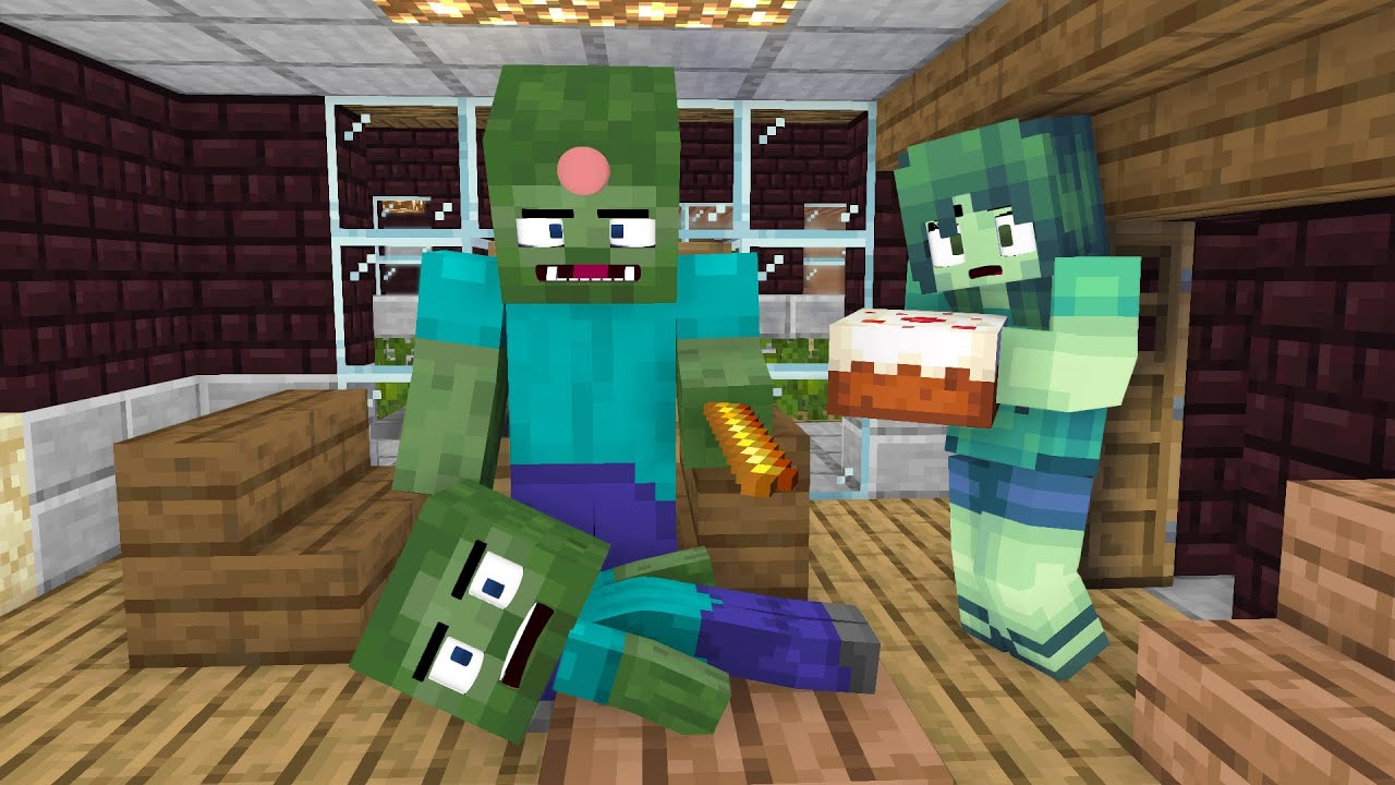 Monster School : Baby Zombie And Poor  Man - Minecraft Animation