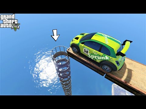 قراند 5 : باركور ميني كوبر القفز داخل ماسورة 🐸 GTA 5 - Mini Cooper Jumps Inside a Pipe