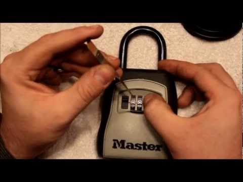 "(047) Master Lock -- Real Estate Key ""Safe"""