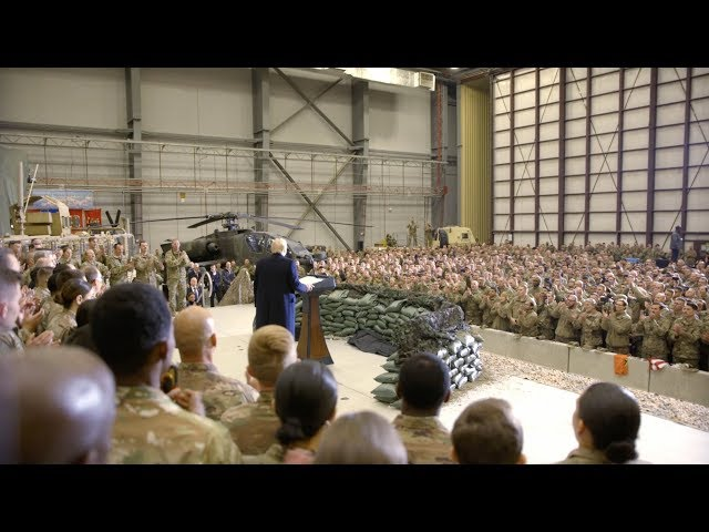 President Trump Visits Troops in Afghanistan for Thanksgiving