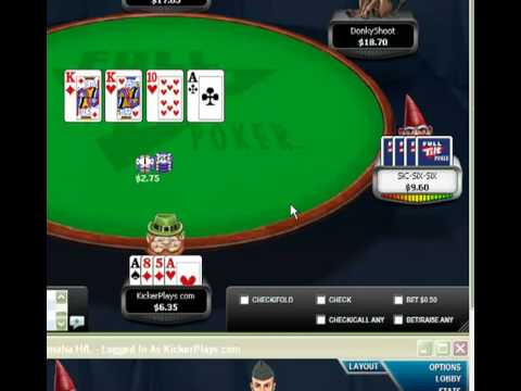 The sickest beat I've put on someone playing online poker