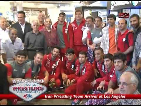 Iran wrestling Team Arrival at Los Angeles Second Day