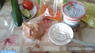 Влог:Утренние поздравления.Готовлю салат с яичными блинчиками.Картошка с рыбой.Домашние дела.подарки
