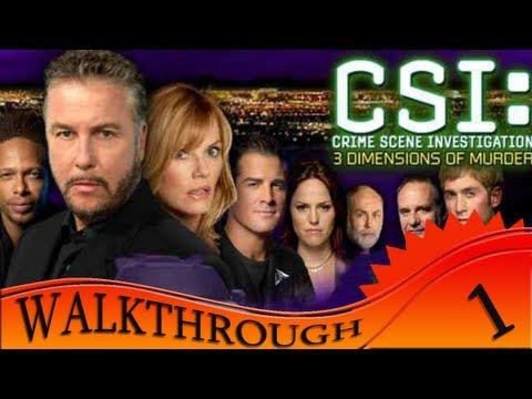CSI 3 Dimensions Of Murders - Walkthrough #1   First Case