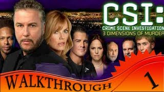 CSI 3 Dimensions Of Murders - Walkthrough #1 | First Case
