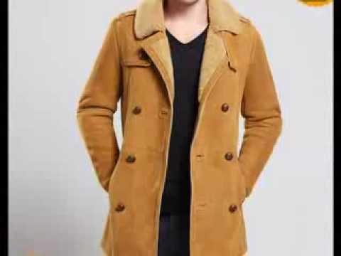 Shearling Sheepskin Coat for Men - YouTube