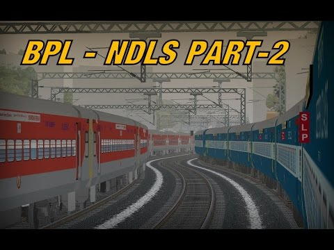 MSTS Indian : Tamilnadu Express Part-2 (BPL-NDLS), Overtakes,Crossing and Surprise in the end!