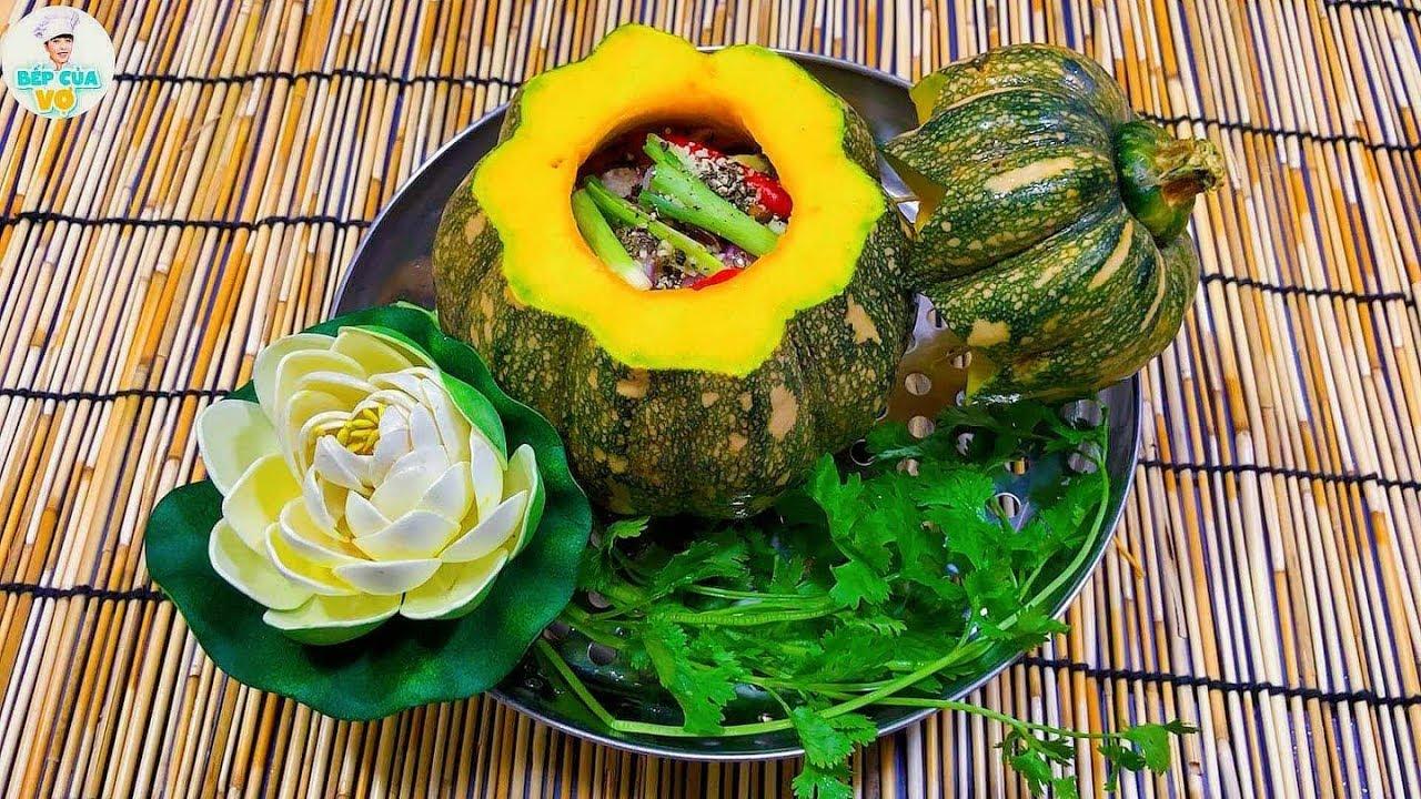 ÓC HEO CHƯNG BÍ ĐỎ | Món ăn bổ dưỡng thơm ngon | Bếp Của Vợ