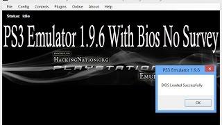 PS3 Emulator download 1.9.6 with BIOS no Survey