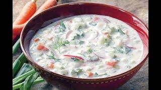 Холодный Суп ОКРОШКА на квасе - Летом то, что надо!