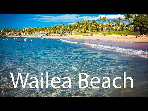 Relaxing Wailea Beach on Maui -  Beach overview at Grand Wailea