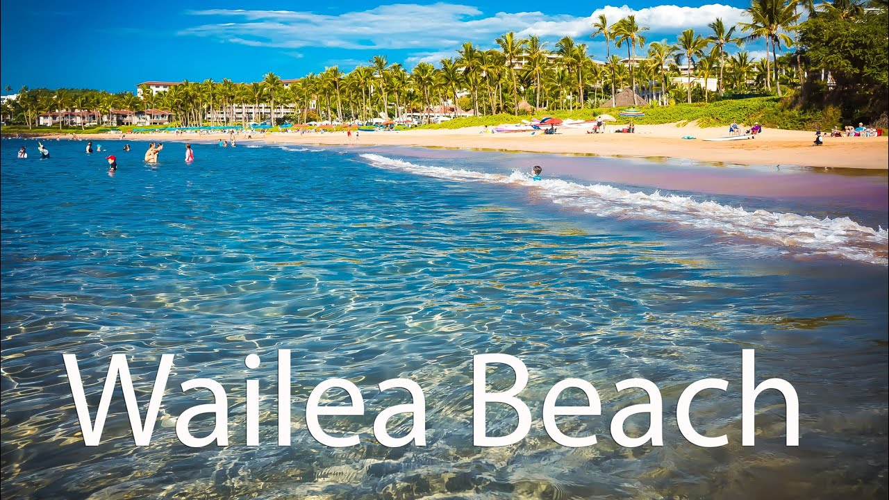 Relaxing Wailea Beach On Maui Overview At Grand