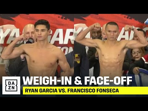 Ryan Garcia vs Francisco Fonseca weigh-in results, video