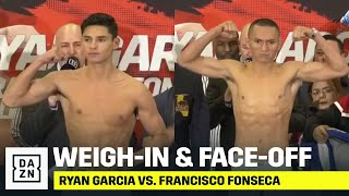 Ryan Garcia & Francisco Fonseca Weigh-In, Face-Off Ahead Of Valentine's Day Fight