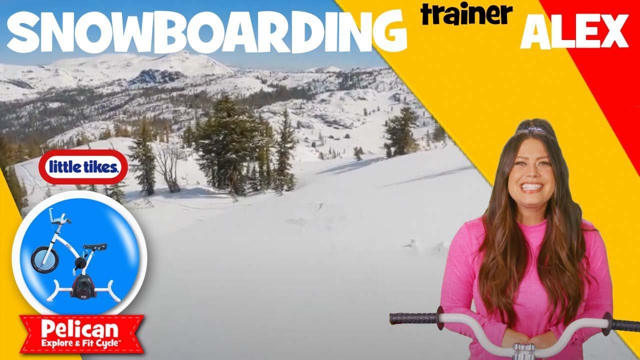 AMAZING Snowboarding Adventure! | Pelican Bikes Ride | Little Tikes