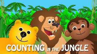 Counting in the Jungle   Learn to count from 1 to 10   With Lions, monkeys and bears