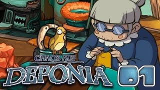 Let's Play Chaos auf Deponia #001 [Deutsch] [HD+] - Oma Utz liebt ihren Pieps